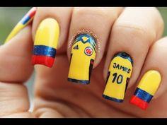 Decoración de uñas Colombia - Colombia nail art - YouTube