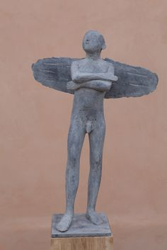 """""""Angel, Waiting and Thinking"""" by Christopher Marvell (bronze)"""