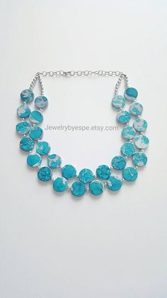 Hey, I found this really awesome Etsy listing at https://www.etsy.com/listing/255168075/turquoise-statement-necklaceturquoise