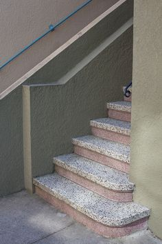 Terrazzo is durable, easy to maintain, beautifully… Interior Staircase, Staircase Design, Interior And Exterior, Interior Design, Mood Colors, Art Deco Design, Contemporary Interior, Stairways, Texture