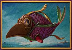 Buy SWEET PLAGUE DOCTOR FISH - ( Framed ), Acrylic painting by Carlo Salomoni on Artfinder. Discover thousands of other original paintings, prints, sculptures and photography from independent artists.