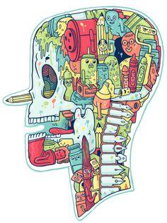"As described, ""Artwork for self promotion. Illustrator to the bone"""