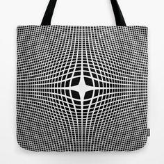 White On Black Convex Tote Bag by Moonshine Paradise #society6 #blackandwhite #convex #opticalillusion #totebag