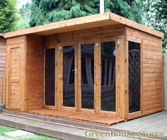 Cotswold 12x8 Modern Garden Room with Side Shed #shedoftheyear http://www.gardenshedstores.co.uk/Cotswold-12x8-Modern-Garden-Room-with-Side-Shed.htm