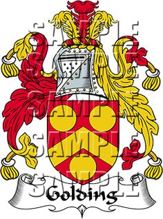 Golding Family Crest apparel, Golding Coat of Arms gifts
