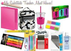 Substitute Teacher Must Haves!  substitute teacher advice tips what do i need what should i bring help