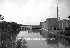 Blandin Paper Company and Mississippi River, Grand Rapids Minnesota, 1945