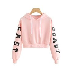Spring Hoody Sweatshirts Women Letters Long Sleeve Hoodie Pink Crop Pullover Top Blouse Feminino Moletom Sweatshirt of female Crop Top Hoodie, Cropped Hoodie, Sweater Hoodie, Bauchfreier Pullover, Patagonia Pullover, Hoodie Sweatshirts, Teen Fashion Outfits, Women's Fashion, Fashion Jewellery