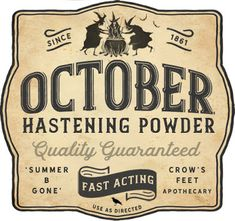 Waiting for October... Free Potion Label Printable | Crow's Feet Chic