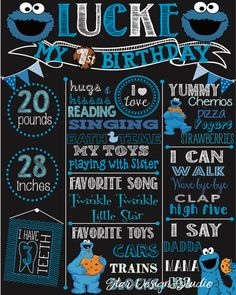 Hey, I found this really awesome Etsy listing at https://www.etsy.com/listing/493716422/first-birthday-cookie-monster-chalkboard