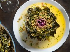 Get Spinach Dip Stuffed Artichokes Recipe from Food Network