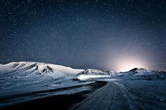 Winter Night In Iceland by KristjánFreyr on flickr