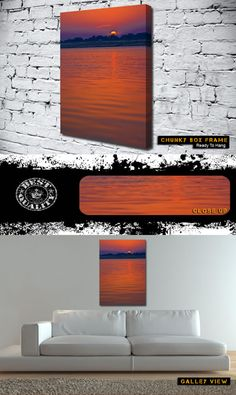 As The Sun Goes To Sleep sunset canvas from only £14.99 at Canvas Art Print  http://www.canvasartprint.co.uk