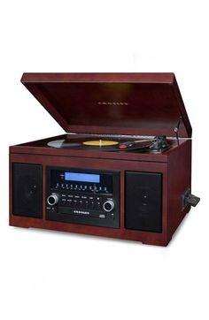 Crosley Radio 'Cannon' CD Recording Turntable - Brown