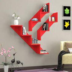 Shelves for a corner Home Decor Shelves, Wall Shelf Decor, Home Decor Furniture, Unique Furniture, Diy Home Decor, Furniture Design, Bookshelf Design, Wall Shelves Design, Home Room Design