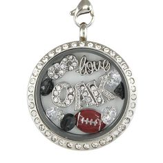 Awesome Tee Oakland Football Charm Necklace T-Shirts