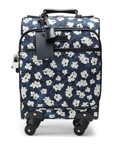 Floral-Print Wheeled Carry-On Bag, Blue by Gucci at Neiman Marcus.