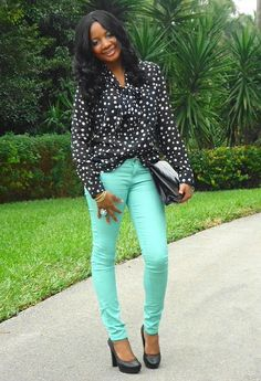 Thrifted  Shirt / Blouses, Forever21  Jeans and Gianni Bini  Heels / Wedges