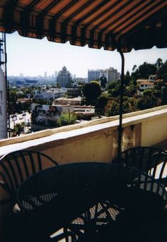 Chateau Marmont view from room 54, jr penthouse.