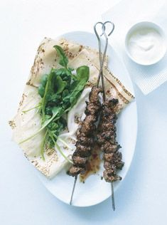 garlic and mustard beef skewers
