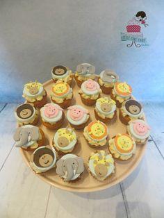Noah's Ark Jungle Farm Animal mini Cupcakes Toppers www.littlecakefairydublin.com www.facebook.com/littlecakefairydublin Little Cakes, Baby Shower Cakes, Mini Cupcakes, Ark, Cupcake Toppers, Christening, Facebook, Animal, Desserts
