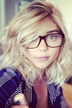 Sexy Styles with Glasses for Blonde Girls picture3