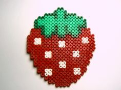 Magnet Strawberry  Hama / Perler Beads by Miss_Kawaii