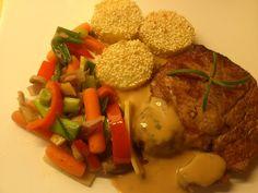 Edel's Mat & Vin : Entrecote med sesam poteter, stekte grønnsaker og ...