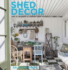 Buy Shed Decor by Sally Coulthard at Mighty Ape NZ. Shed Decor is an inspirational guide to decorating and furnishing outdoor rooms and garden sheds to create beautiful and useable living spaces that ad. Shed Interior, Interior Design, Shed Decor, Home Decor, Buy Shed, Outdoor Rooms, Outdoor Decor, Outdoor Living, Simple Shed