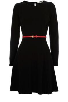 AGB Dress- Long-Sleeve Colorblocked Sweaterdress - Womens Fall ...