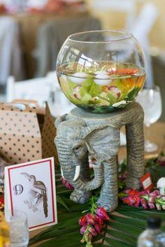 Animal Themed Wedding Decor 275x412 Safari Inspired Wedding at Maryland Zoo in Baltimore: Lauren + Brennan