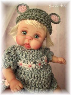"❤OOAK MOUSE BABY  GIRL ""MAIZY""  BY JONI LEA * DOLLY-STREET❤"