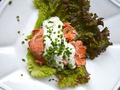 """Poached Salmon With Dill Horseradish Sauce 