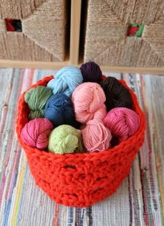 Love this chunky crochet basket