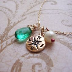 Hey, I found this really awesome Etsy listing at http://www.etsy.com/listing/155458212/compass-necklace-choose-gemstone-special