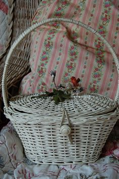 Vintage basket by Maison Douce, via Flickr