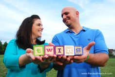 Twins Baby Announcement Photography
