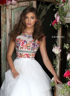 Sherri Hill 50319 dress for your next formal event at The Castle. We are an authorized retailer for all Sherri Hill dresses and every 50319 is brand new with all original tags! Mexican Quinceanera Dresses, Mexican Dresses, Sherri Hill Prom Dresses, Homecoming Dresses, Pretty Dresses, Beautiful Dresses, Dress Outfits, Dress Up, Quince Dresses