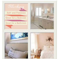 Pretty pink neutral, Blushing SW 6617. Sherwin williams bathroom, bedroom and living room