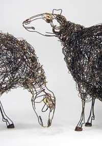 Thomas Hill wire sculpture - Sheep. Now here's what one would call steel wool!