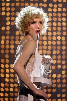 Renée Zellweger as Roxie Hart in Chicago.