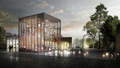 "Gallery of White Arkitekter Proposes Transparent ""Lantern"" Design for Akershus Art Center - 1"