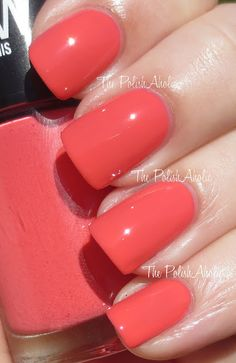 Maybelline Color Show .Coral Crush is a pink leaning coral. (Polish addict blog)