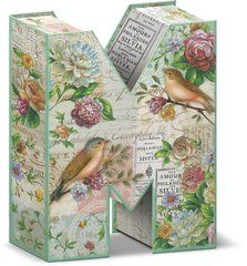 """Garden Party Decorative Letter """"M"""" Storage Box With Magnetic Closure"""