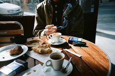 boy, cafe, cigarette, coffee, food, morning, photography