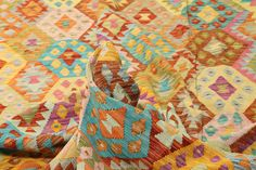 Kilim Afghan Old style - RugVista Geometric Symbols, Afghanistan, Carpets, Color Schemes, Hand Weaving, Oriental, Traditional, Wool, Quilts