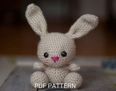 Create your own adorable little bunny in just a couple hours! This super simple pattern includes one PDF file (5 pages long) with detailed