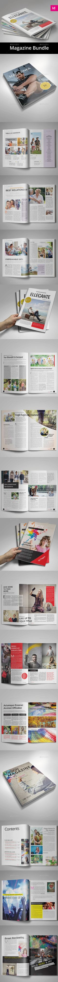 Professional Magazine Templates InDesign INDD Bundle. Download here: https://graphicriver.net/item/bundle-4-in-1-vol4/17514352?ref=ksioks