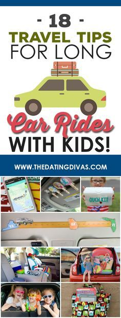 Great travel tips and road trip tips for long rides with kids- how to keep the kids busy, happy, and entertained in the car. From The Dating Divas Road Trip With Kids, Family Road Trips, Camping With Kids, Travel With Kids, Family Travel, Family Vacations, Road Trip Toddlers, Solo Camping, Camping Hacks