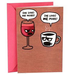 50+ Best Birthday Cards For Him & Her in 2020   Hallmark Shoebox Funny Birthday Card for Her (Wine and Coffee) E Birthday Cards Free, 50th Birthday Cards For Women, Birthday Verses For Cards, Birthday Card Messages, Birthday Postcards, Dad Birthday Card, Happy Birthday Greeting Card, Funny Birthday Cards, Unique Funny Gifts
